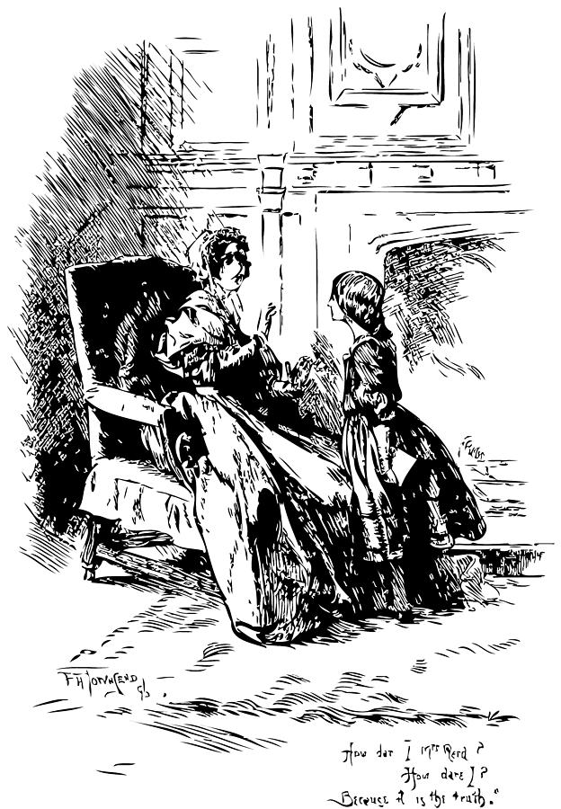 Charlotte Bronte Drawing - Jane Eyre Illustration by