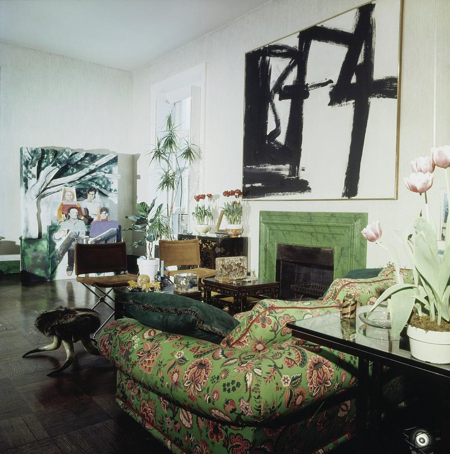 Jane Holzers Living Room Photograph by Horst P. Horst
