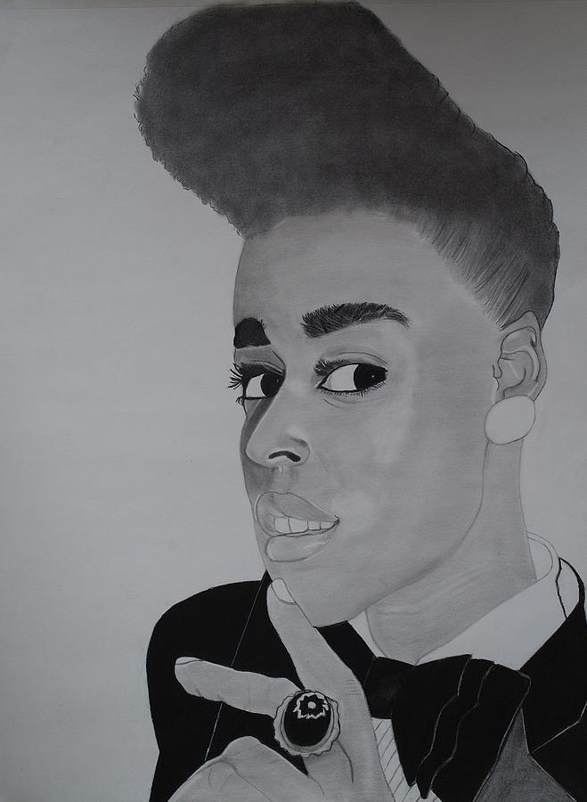 Janelle Drawing - Janelle Monae by Ordette Rocque