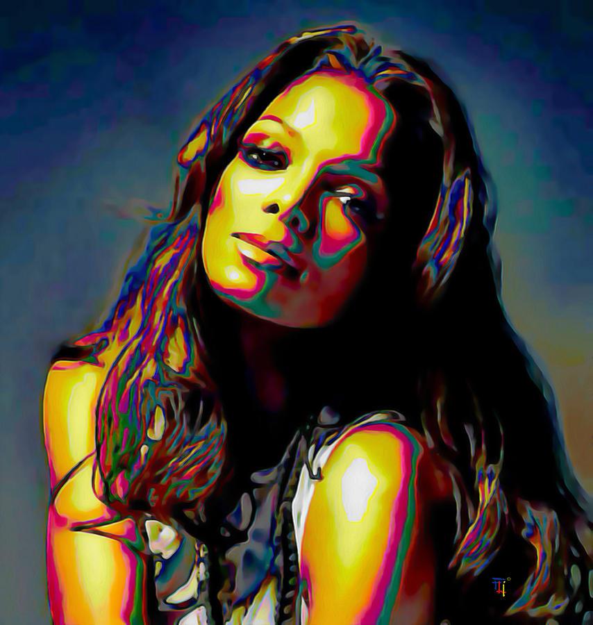 Janet Jackson Painting - Janet Jackson by  Fli Art