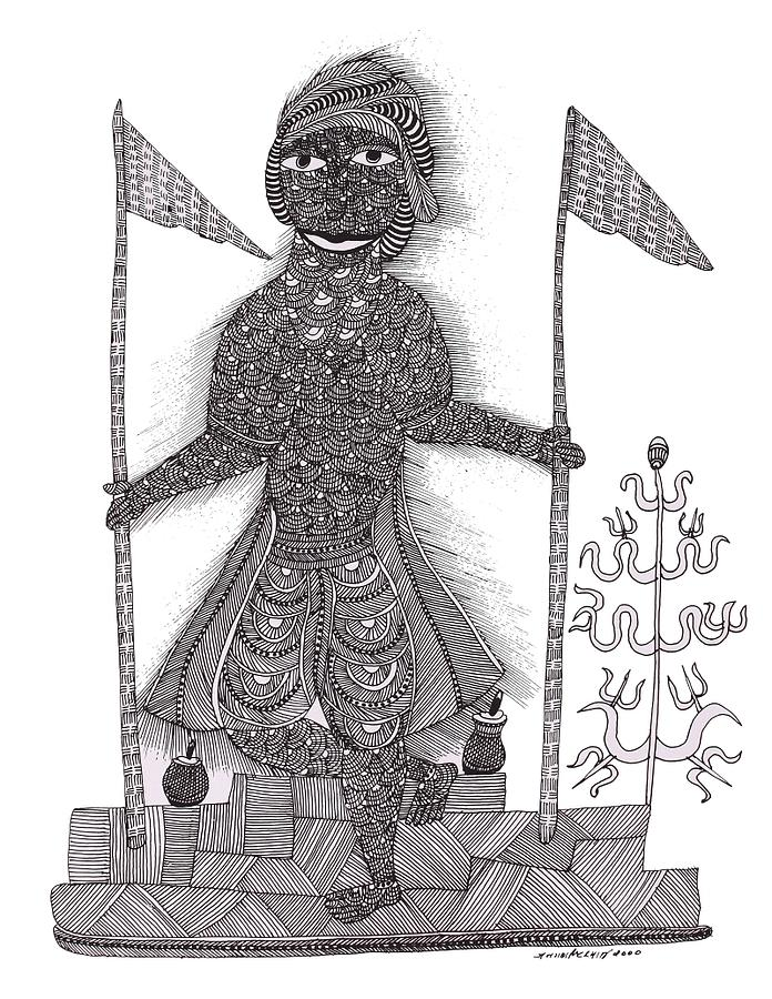 Jangarh Singh Shyam Painting - Jangarh Singh Shyam 01 Limited Edition Prints by Jangarh Singh Shyam