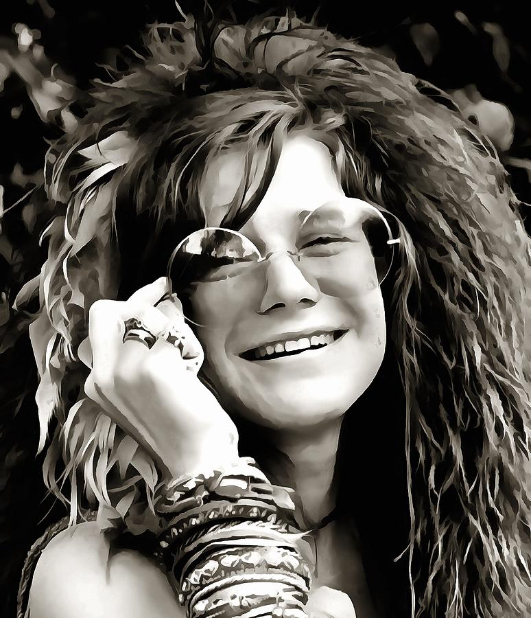 It's just an image of Unusual Janis Joplin Drawing