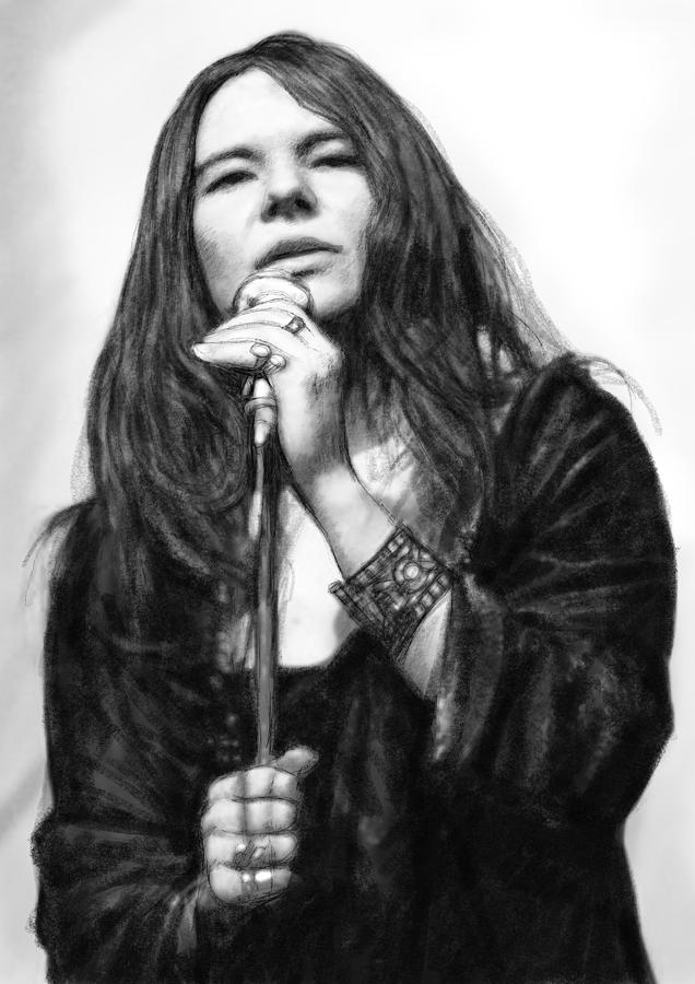 It's just a graphic of Superb Janis Joplin Drawing