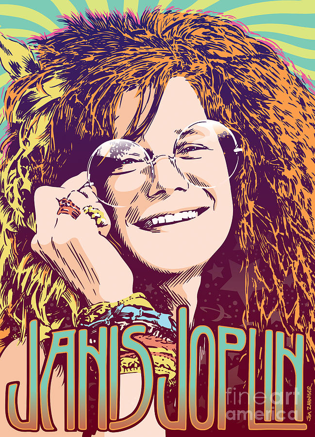 Janis Joplin Pop Art Digital Art By Jim Zahniser