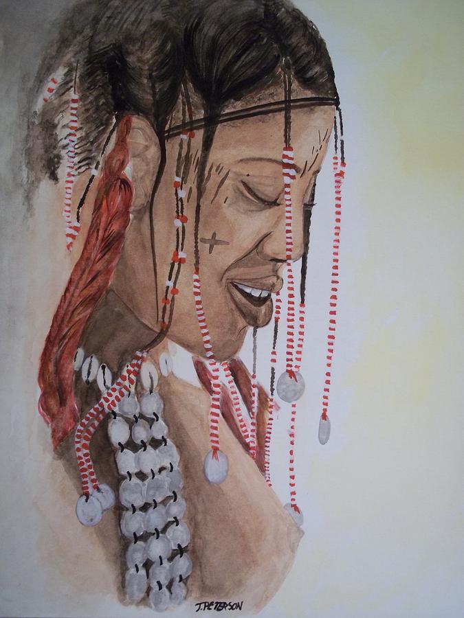 Ethnic Painting - Janjubi by Teresa  Peterson