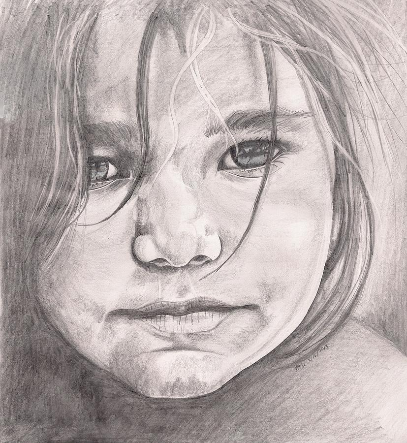 Girl Drawing - Jannie by Beverly Marshall