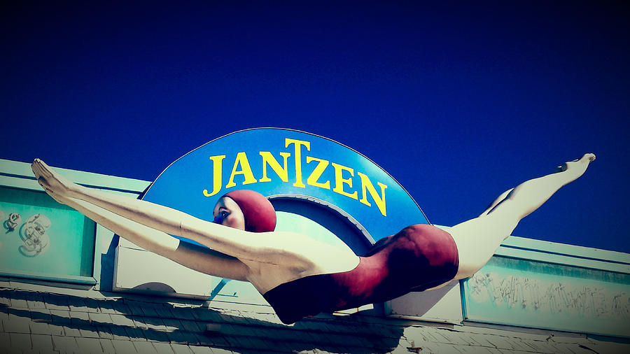 Bathing Suit Photograph - Jantzen Girl by Gail Lawnicki
