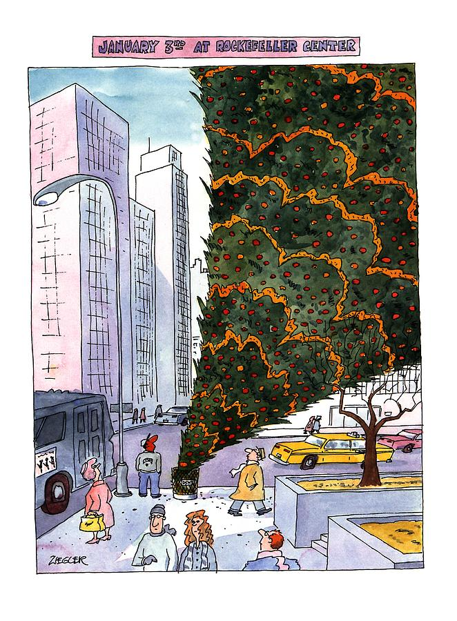 January 3rd At Rockefeller Center Drawing by Jack Ziegler