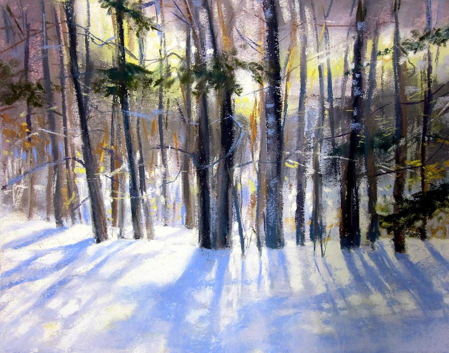 January Blues Pastel by Jeanne Rosier Smith