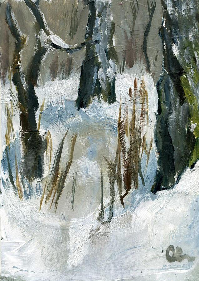 Landscape Painting - January Plein Air by Lelia Sorokina