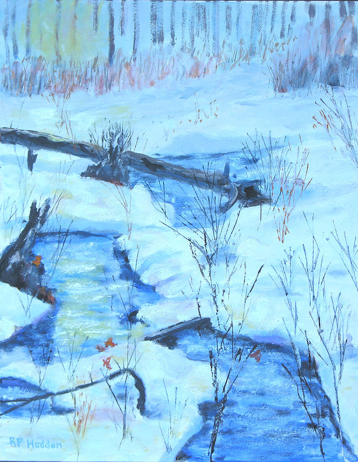 1000 Islands Region Painting - January Thaw 2  by Robert P Hedden