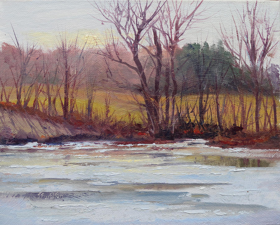 Landscape Painting - January Thaw by Judy Fischer Walton