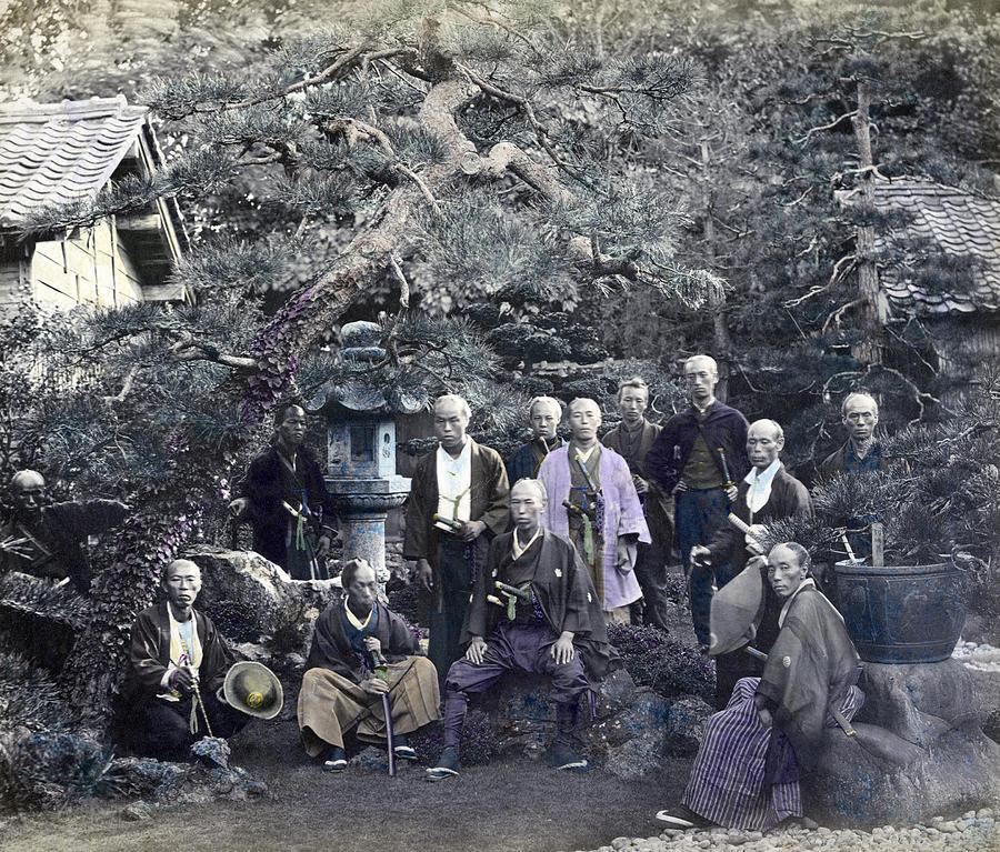 1866 Photograph - Japan Group Portrait, C1866 by Granger