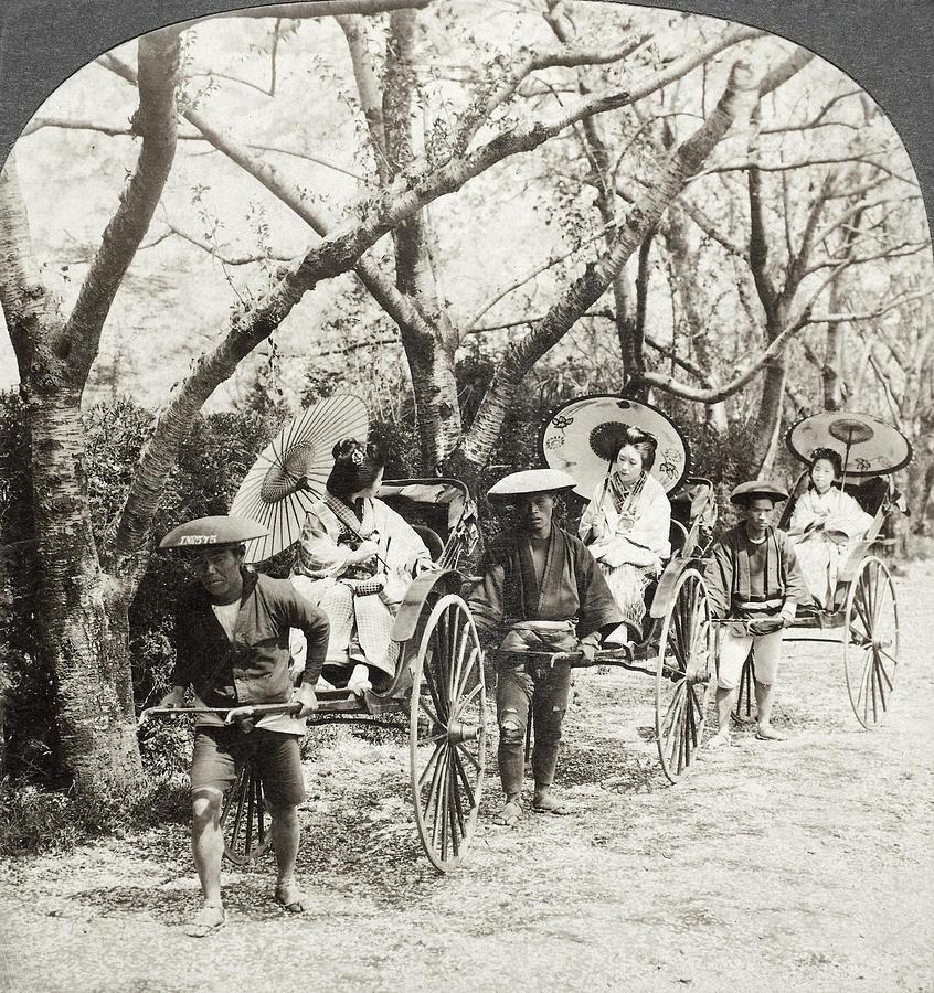 1907 Painting - Japan Jinrikshas, 1907 by Granger