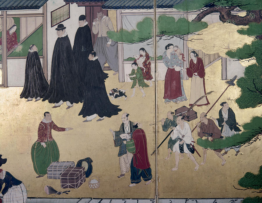 1600 Painting - Japan Portuguese, C1600 by Granger