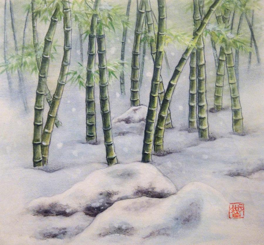 Japanese Painting - Japanese Bamboos by Tomoko Koyama