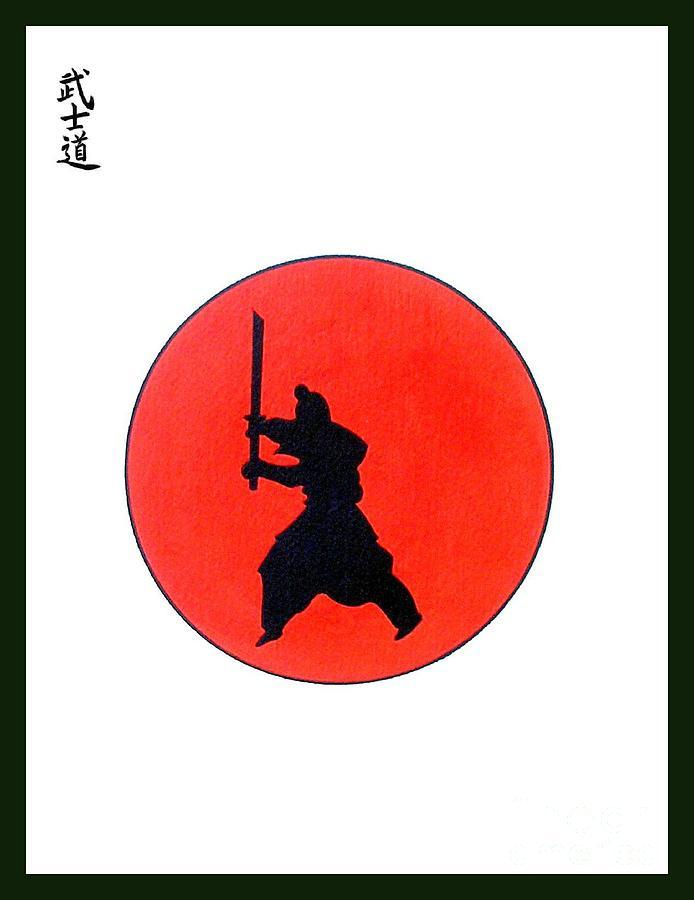 Judo  Samurai Karate Tattoo Ninja Warrior Street Fighter Monkey Japanese War.manga Painting - Japanese Bushido Way Of The Warrior by Gordon Lavender