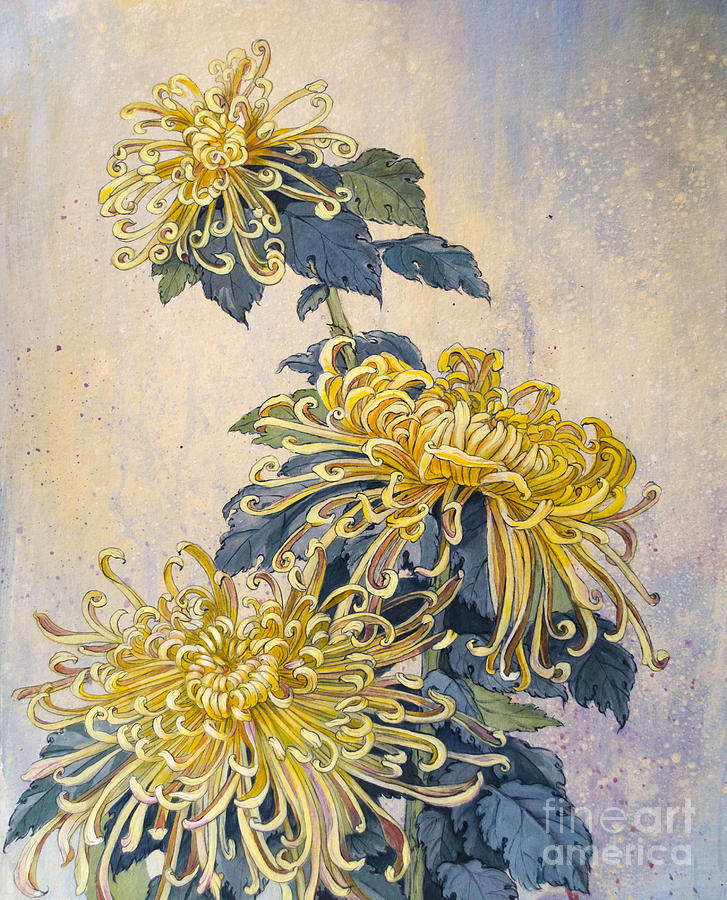 Japanese Chrysanthemum Series Part 2 Autumn Painting by ...
