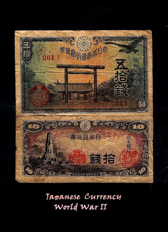 Fineartamerica.com Photograph - Japanese Currency From World War II by Diane Strain