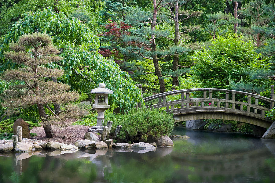 Architecture Photograph - Japanese Garden by Adam Romanowicz