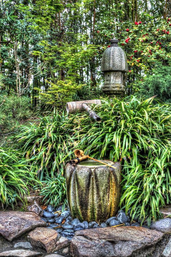 Zen Photograph - Japanese Garden Fountain by Heidi Smith