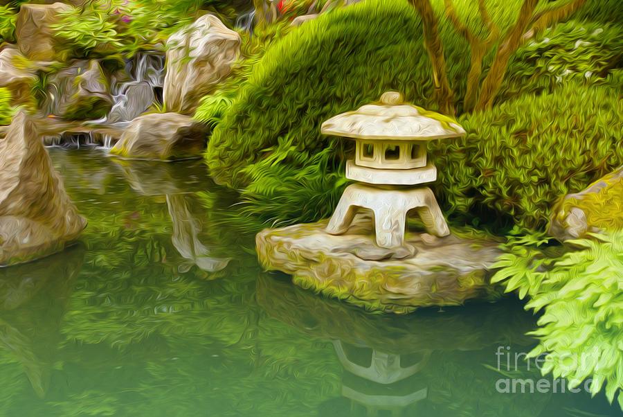Japanese Garden Digital Art - Japanese Garden by Nur Roy