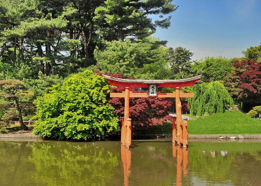 Brooklyn Botanical Garden Photograph   Japanese Garden Pagoda By Tony  Ambrosio