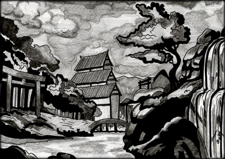 Black And White Japanese Art