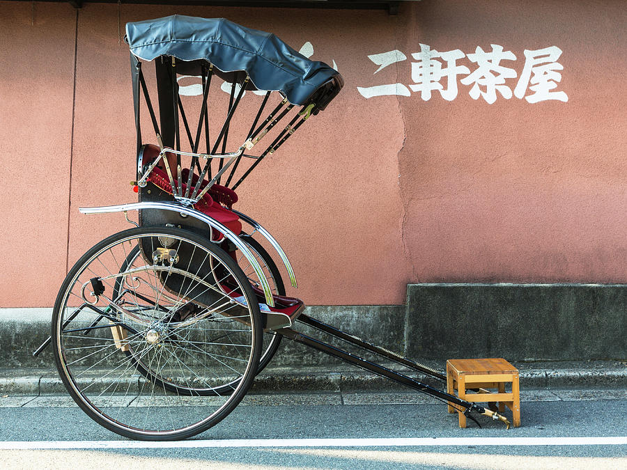 Japanese Rickshaw In Kyoto Photograph by @ Didier Marti