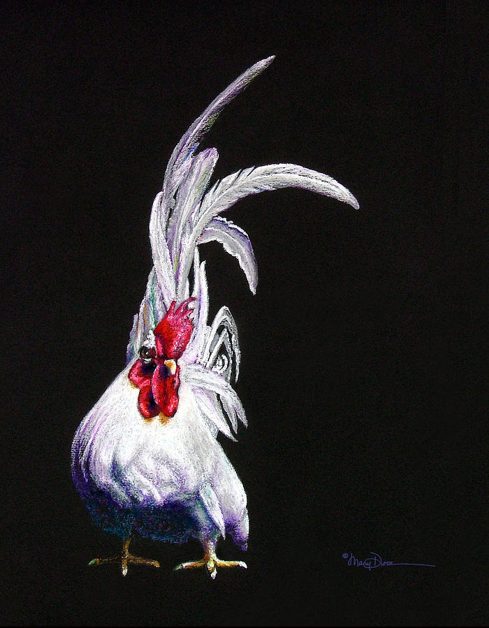 Japanese Rooster Pastel by Mary Dove