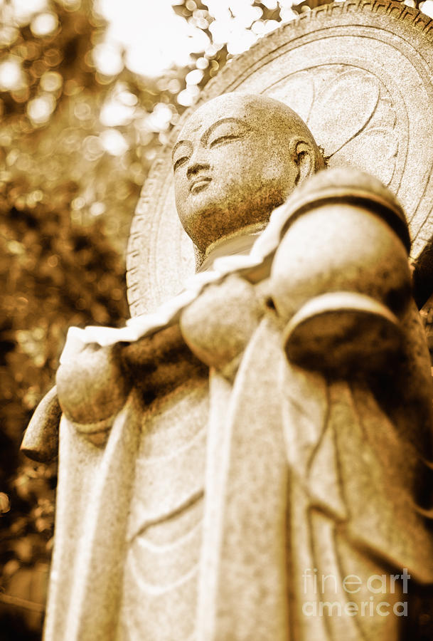 Jizo Photograph - Japanese Statue - Jizo - Guardian Of Children In Japan by David Hill