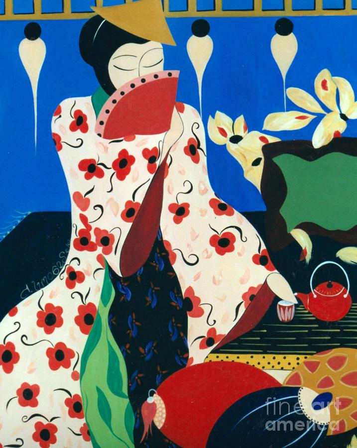 Japanese Tea Painting by Jacquelinemari