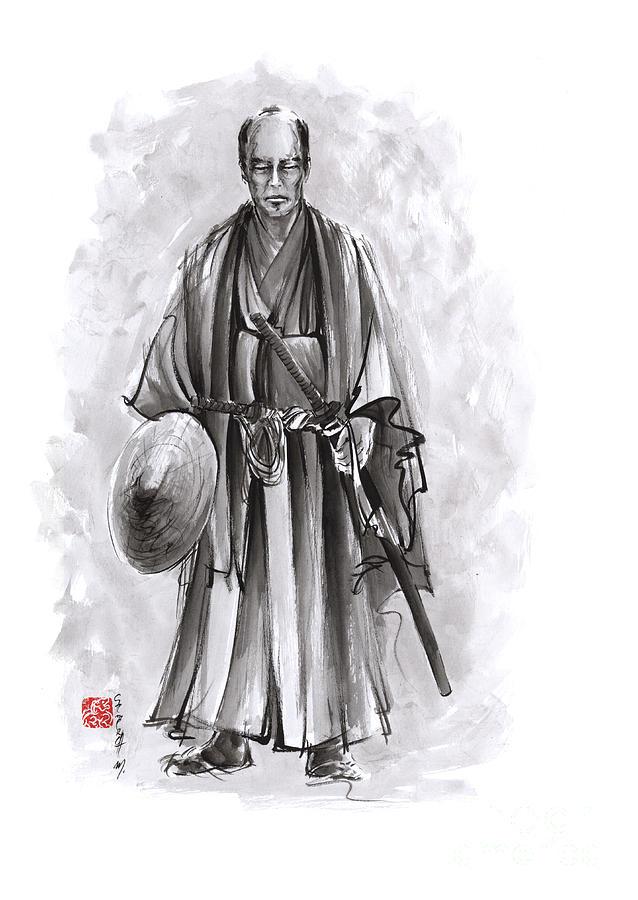 Samurai Armor Painting - Japanese Warriors Painting. by Mariusz Szmerdt