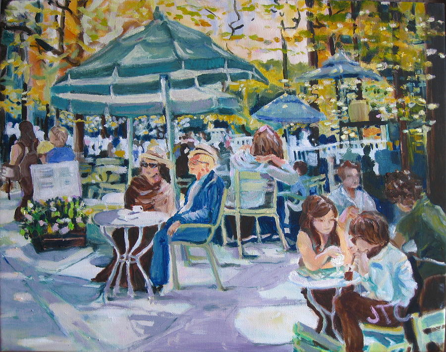 Outdoor Cafes Painting - Jardin Du Luxembourg by Julie Todd-Cundiff
