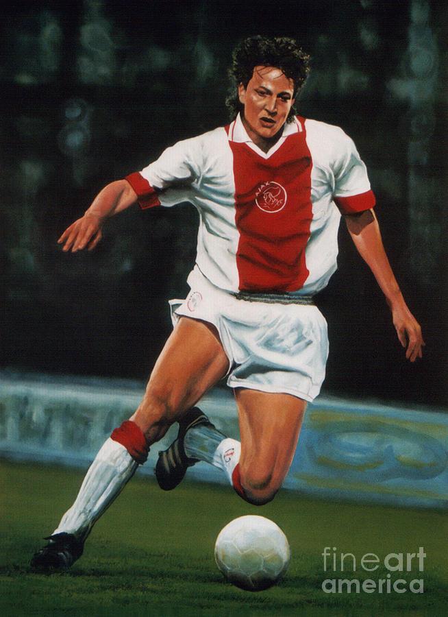 Sport Painting - Jari Litmanen by Paul Meijering