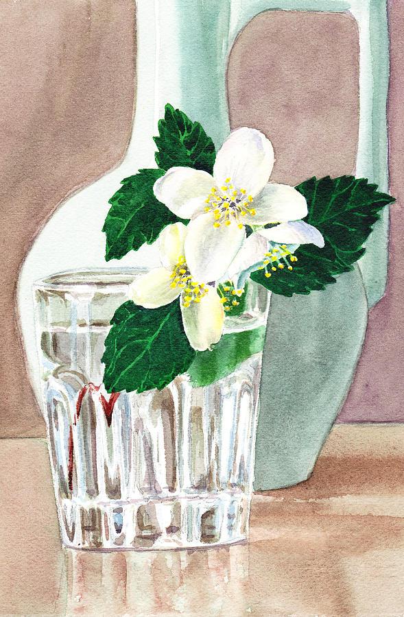 Flower Painting Painting - Jasmine by Irina Sztukowski