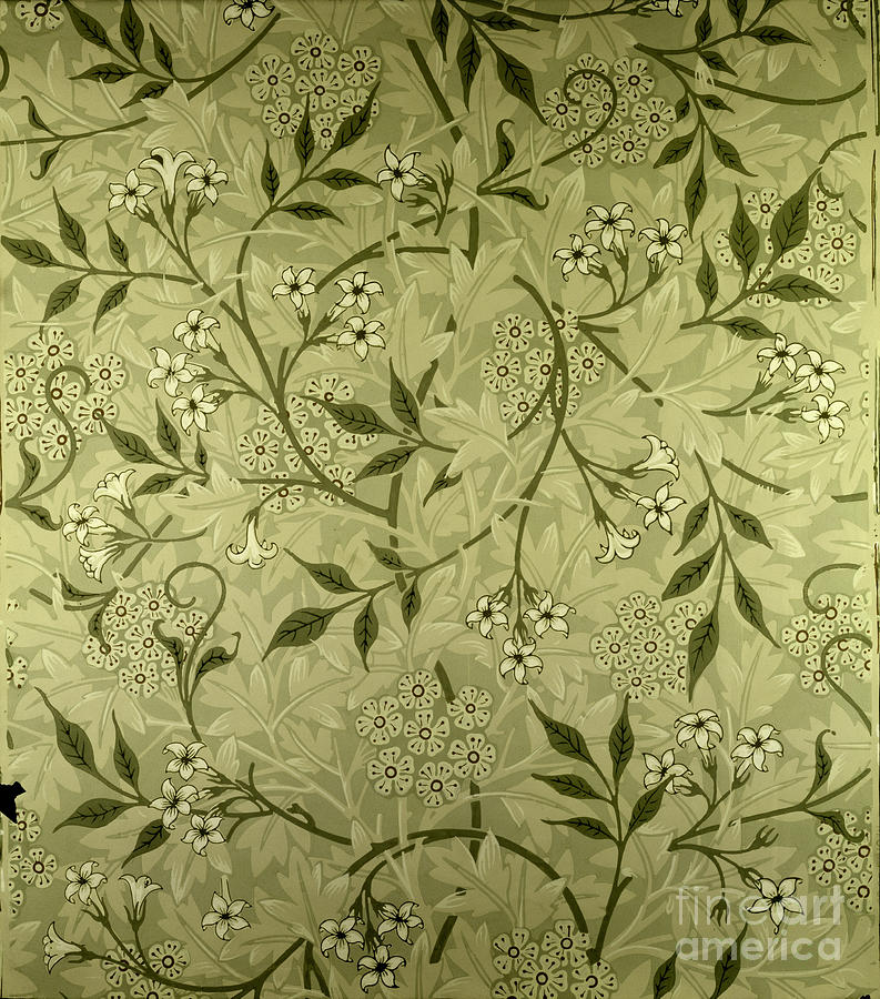 Arts And Crafts Movement Tapestry - Textile - Jasmine Wallpaper Design by William Morris