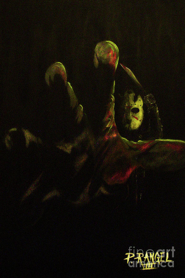 Friday The 13th Painting - Jason  by Phillip Rangel