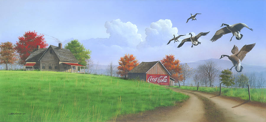 Canada Goose Painting - Jasper Autumn by Mike Brown