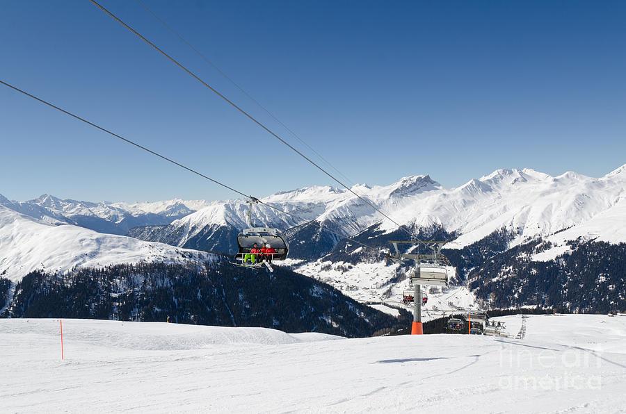 Jatz Jakobshorn Davos Mountains Piste Photograph
