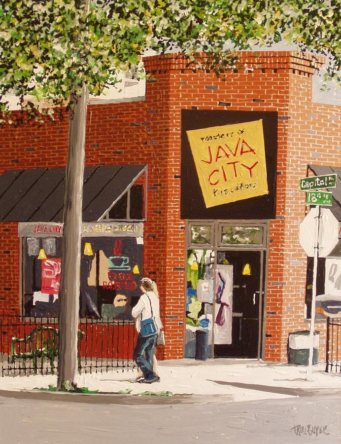 Sacramento Painting - Java City by Paul Guyer