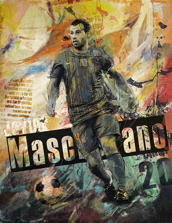 Javier Mascherano Painting - Javier Mascherano - B by Corporate Art Task Force