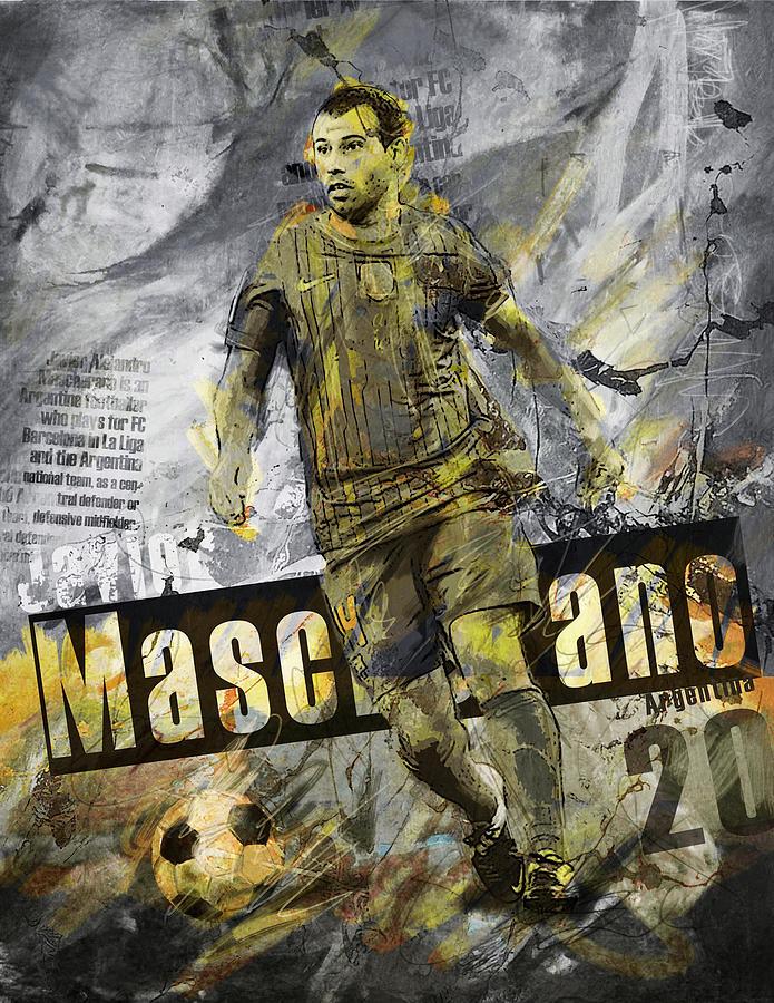 Javier Mascherano Painting - Javier Mascherano - C by Corporate Art Task Force