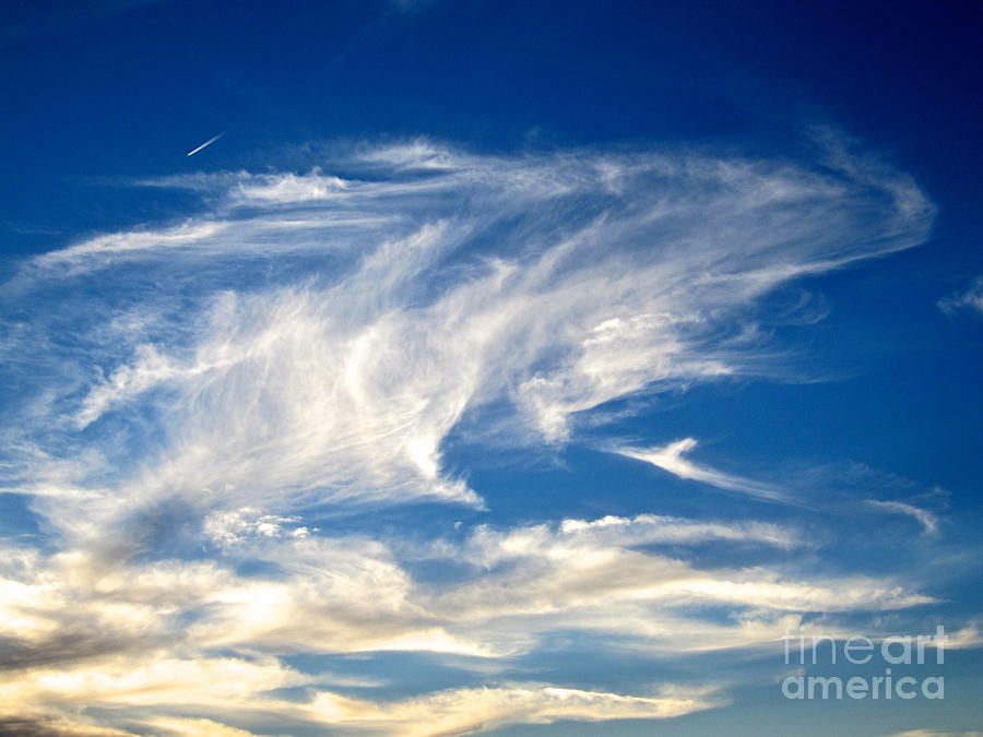 Blue Sky Photograph - Jaws And Jet Nevada Sky by Phyllis Kaltenbach