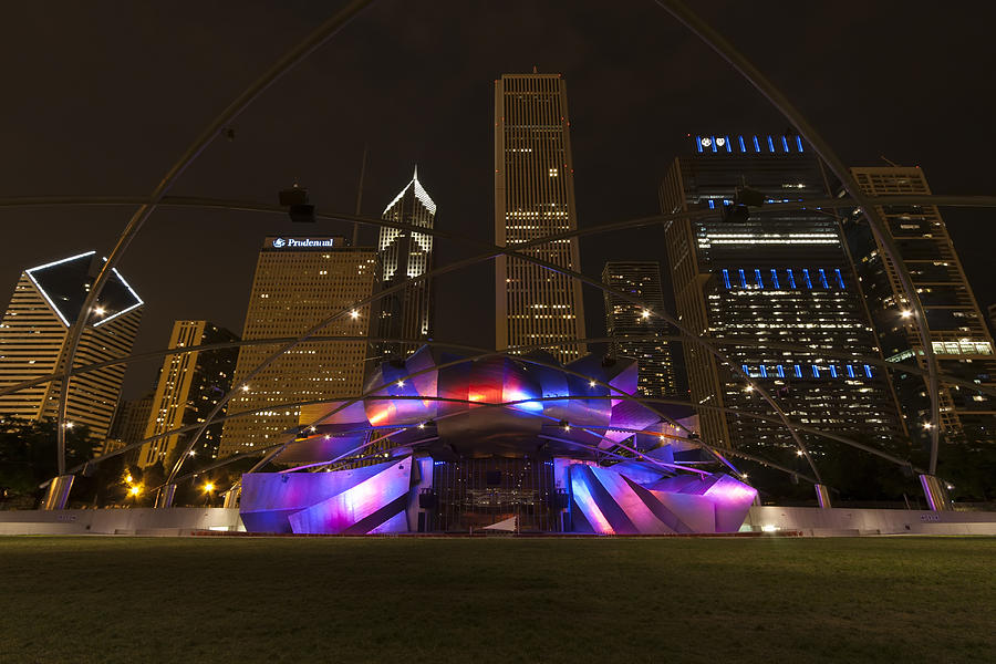 America Photograph - Jay Pritzker Pavilion Chicago by Adam Romanowicz