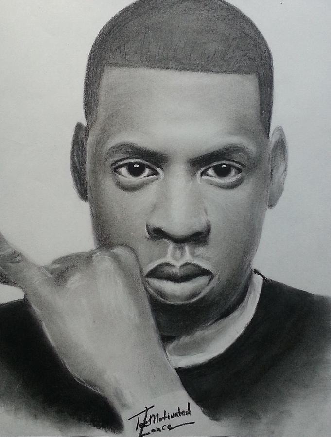 Jay Z Charcoal Drawing By Lance Freeman