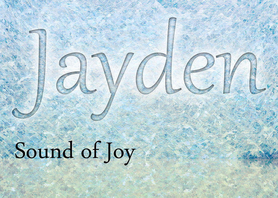 Listening Painting - Jayden - Sound Of Joy by Christopher Gaston