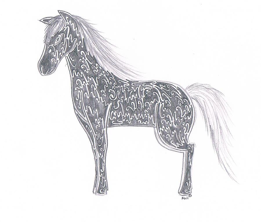 Pencil Drawing - jaymie by Kali Kardsbykali