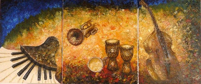 Jazz Painting - Jazz ... by Draia Coralia