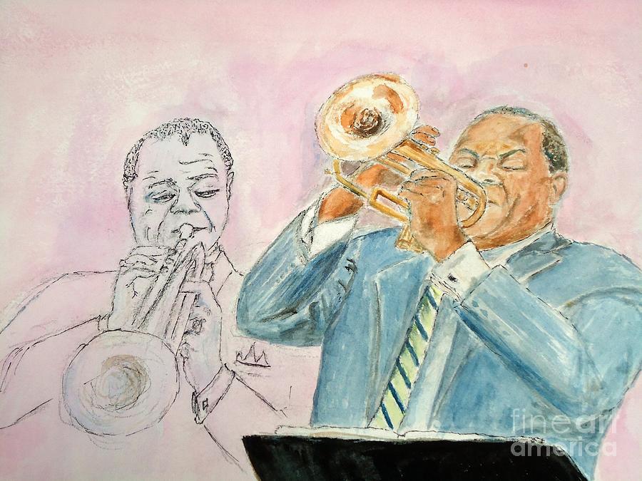 Jazz Painting - Jazz Dream Team   by Katie Spicuzza